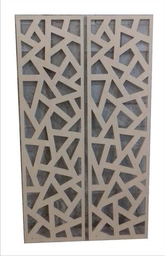 divisor ambiente biombo separador panel hoja mdf crudo