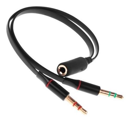 divisor auxiliar a doble jack 3.5mm audio micrófono + envío