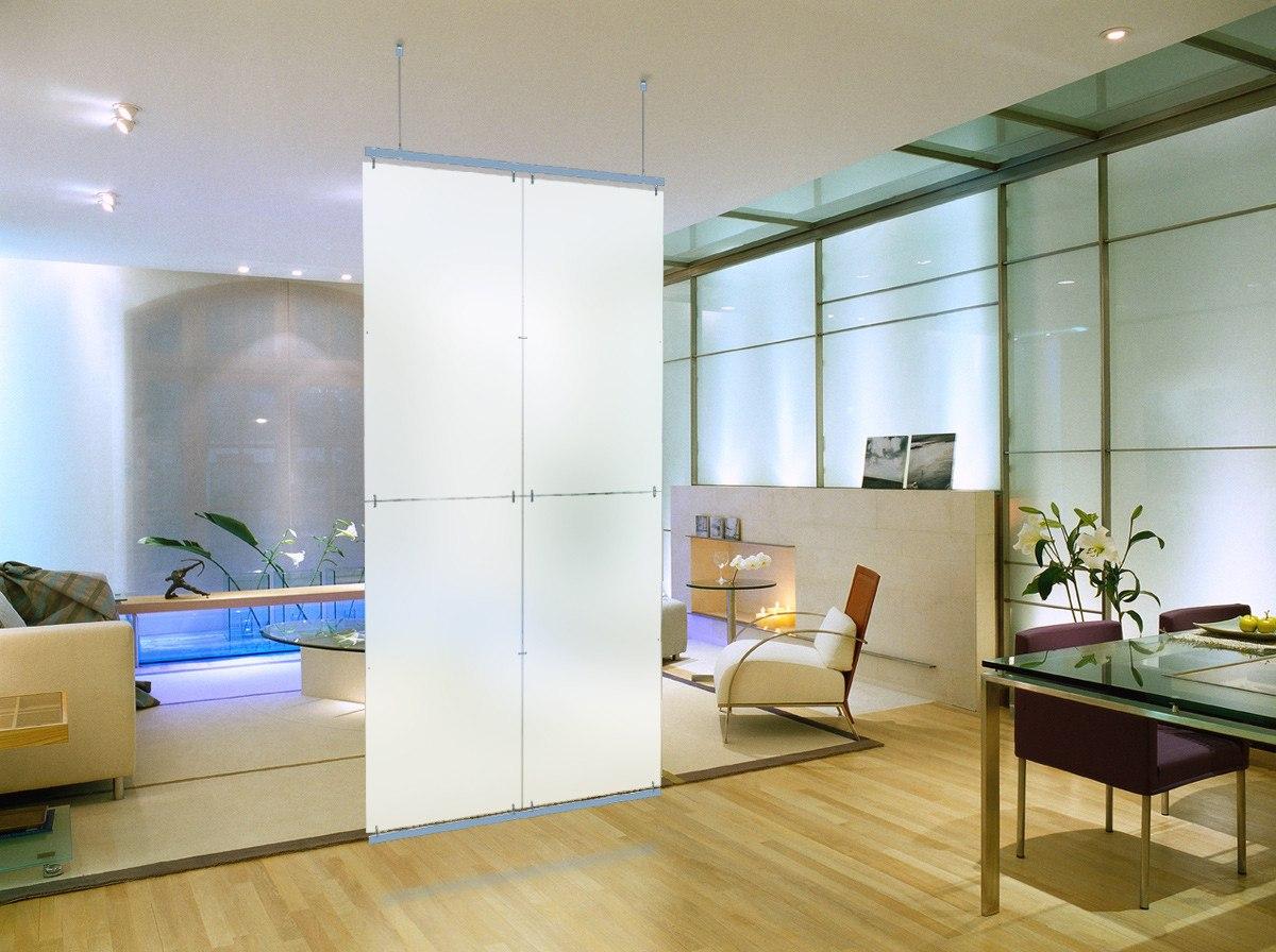 Divisor De Ambientes Traslucido 2 Alto X 1 Ancho No Biombo  # Muebles Separadores Para Monoambientes