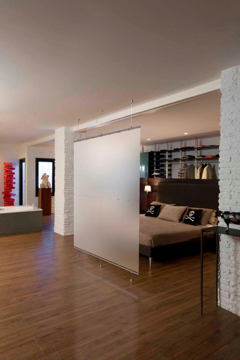 Divisor De Ambientes Traslucido 2 Alto X 2 Ancho No Biombo  # Muebles Separadores Para Monoambientes