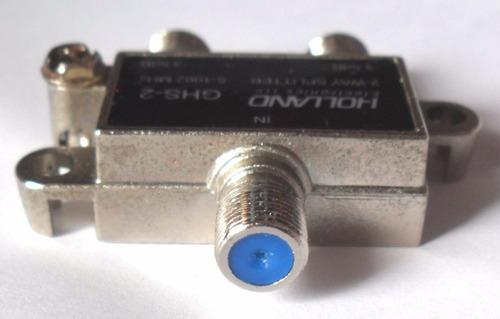 divisor de señal coaxial holland 2 y 3 salidas sky cablemas