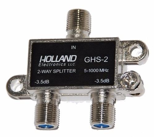 divisor holland ghs-2 antena vhf uhf net tv cabo 1x2 saidas