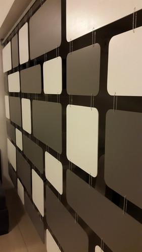 divisor separador de ambiente vintage retro 195x210 cm color