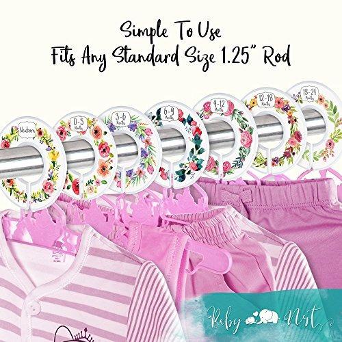 divisores de armario para bebés set de 7 divisores de ramo d