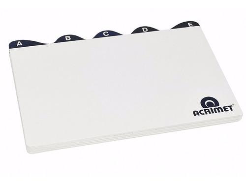 divisoria a-z 5x8 para fichário de mesa acrimet 5 pacotes