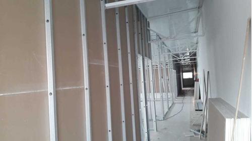 divisória drywall parede de gesso instalado m² r$ 87,00