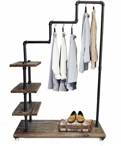 diwhy industrial tubo perchero de ropa clásico estanter
