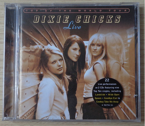 dixie chicks - top of the world tour live - cd duplo imp