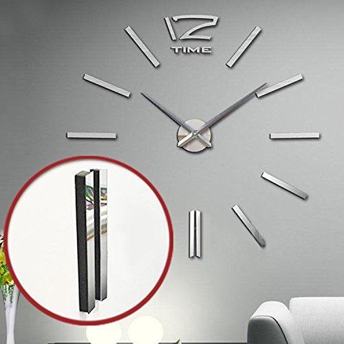 diy 3d reloj de pared frameless moderno espejo de acrílico
