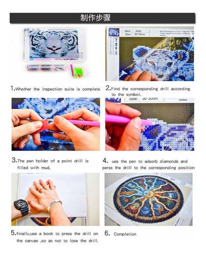 diy d diamond painting kit,  full drill tree flower rhi...