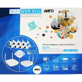 Diy Kit Arfo Nvr Wifi 9 Canais + 6 Câm. 100w + 2 Câm. 200w