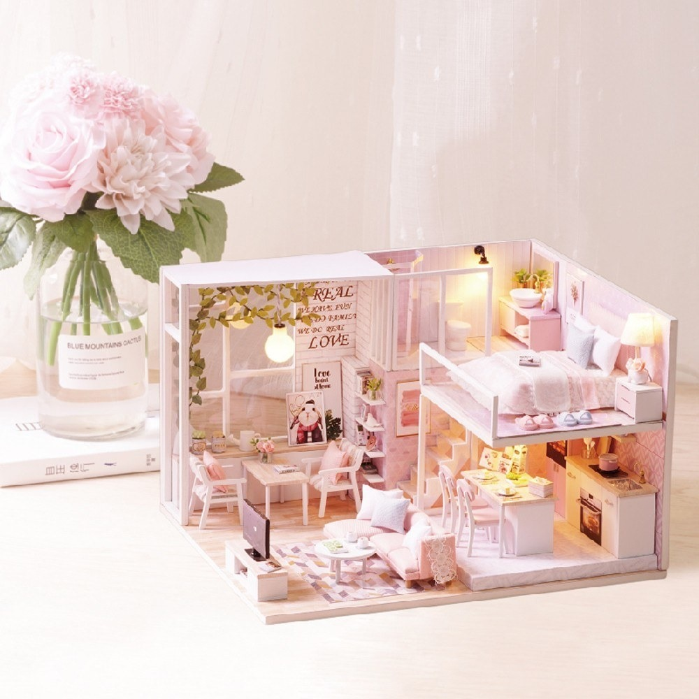 Mountain Flowers Miniature  Dollhouse Picture