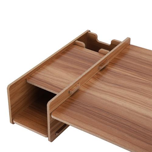 diy office storage rack de madera monitor de escritorio rise
