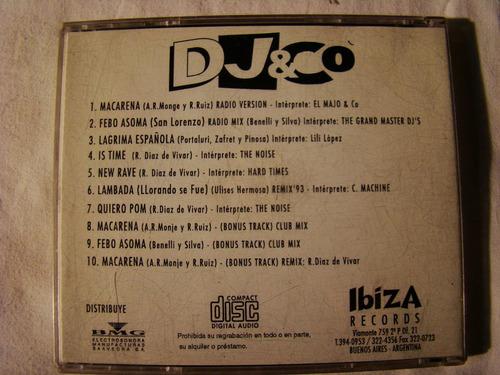 dj & co ibiza records varios macarena 1993 argentina cd