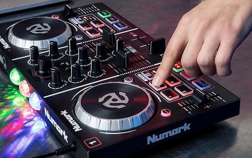 dj controladora numark mixtrack party mixer bares discomovil