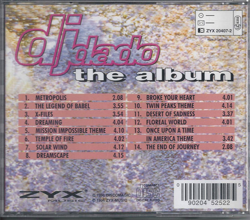 dj dado the album  the x-files  importado