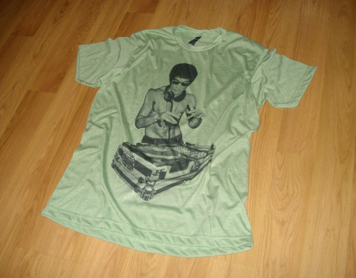dj dragon bruce lee electronic music funny playera camiseta