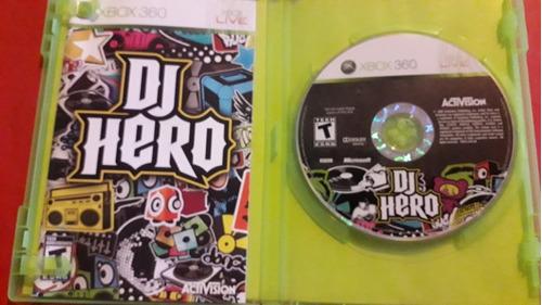 dj hero físico original xbox360