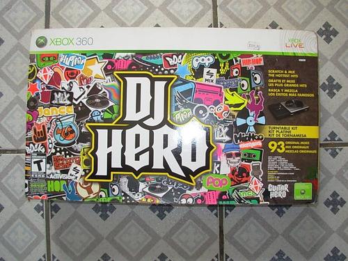 dj hero xbox360 completo na caixa - excelente estado