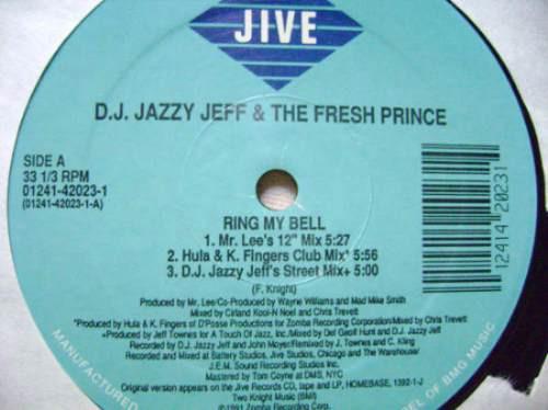dj jazzy jeff &the fresh prince - ring my bell- acetato- dj