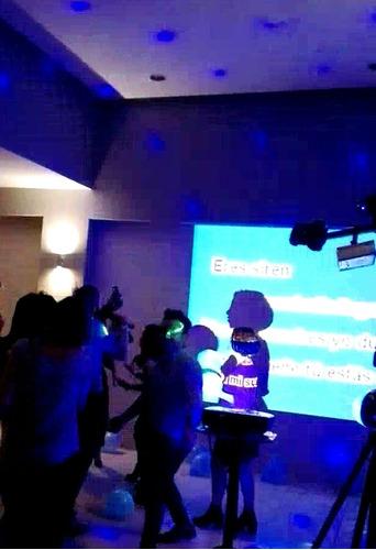 dj karaoke pantalla luces roboticas led laser sonido fiestas