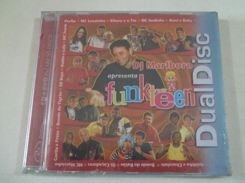 dj marlboro - cd e dvd - funkteen - lacrado e raro!!!!
