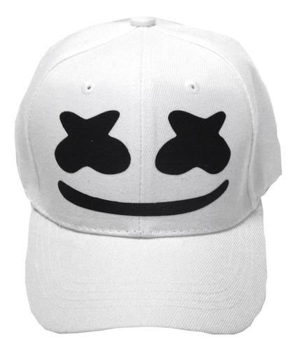 dj marshmello gorra estampado blanco ajustable envio gratis