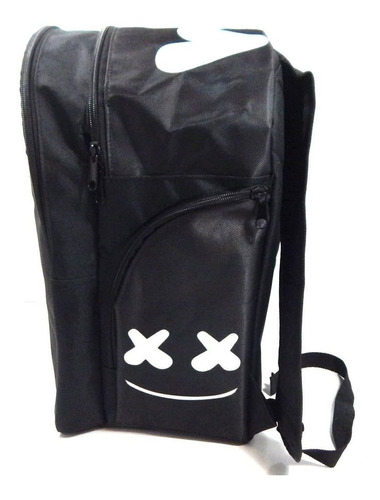 dj marshmello mochila backpack negro cara face