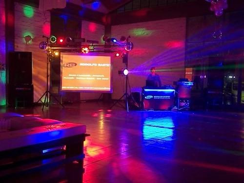 dj, pantalla gigante, iluminacion, espuma! zona sur cap fed