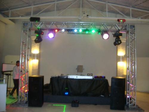 dj perfect festas som iluminação profissional telão