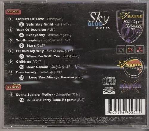 dj sound party team 1998 sky blue c/ bonus cd ( dance)
