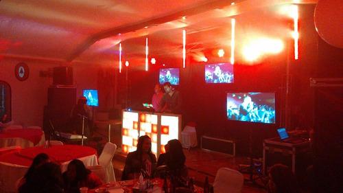 dj y sonido disco para tu fiesta, luces, pantallas, videos