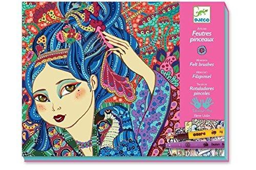 djeco arte kit cherry tree niñas (felt tip marcadores)