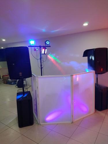 djederevent renta de sonido, luces humo y efectos.