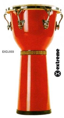djembe color rojo marca extreme exdj003