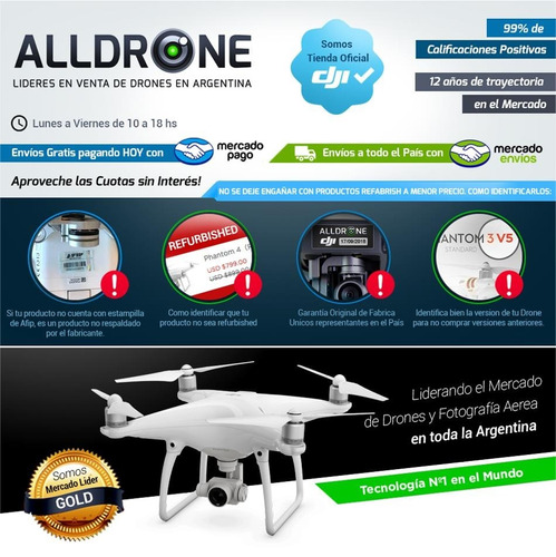 dji drone inspire 1 nueva version v2 camara 4k doble control