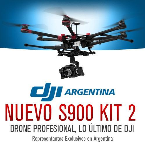 dji drone s900 hexacoptero gopro futaba hd lightbridge kit 2