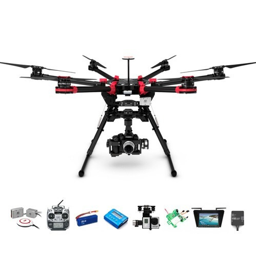 dji drone s900 hexacoptero gopro futaba hd lightbridge kit 3
