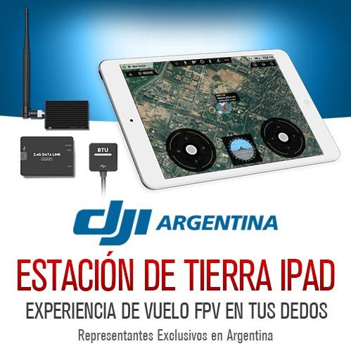 dji ipad ground station waypoints vuelo puntos datalink 2,4