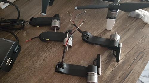 dji mavic air fly more combo 7 baterias 4 motores acessórios