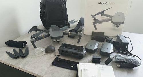 dji mavic pro combo 3 baterias, cargadores + bolso!