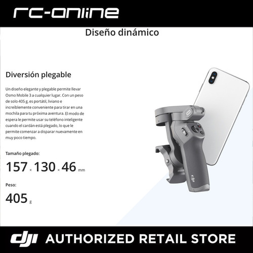 dji osmo mobile 3 combo  smartphone dji store - cuotas