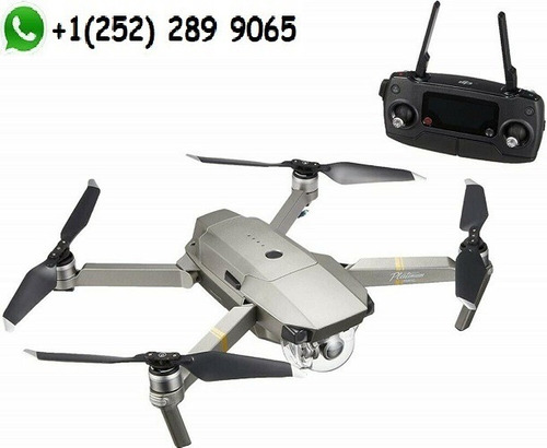dji  portable drone mavic pro platinum fly