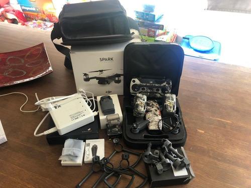 dji spark combo fly more ver. + bateria extra e acessórios