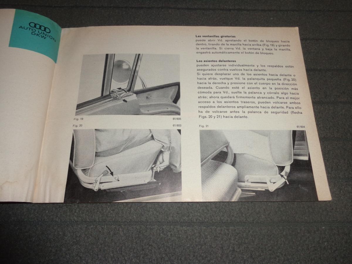 Dkw Auto Union 1000 Coupe Libro Manual De Instrucciones - $ 2.800,00 en  Mercado Libre