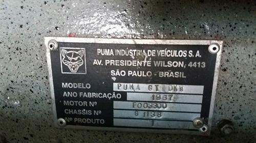dkw puma 67  apto a placa preta* raro modelo* r$ 140 000