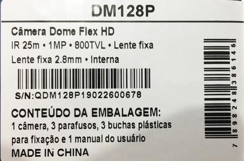dm128p - câmera dome flex hd ir 25m