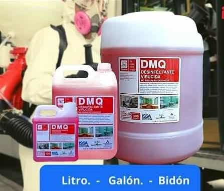 dmq desinfectante virucida originales con ficha técnica.