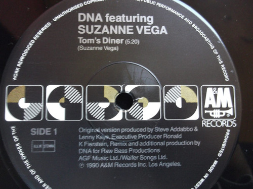 dna feat. suzanne vega - tom`s diner - 3 tracks -germany