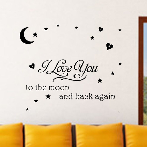 dnven (24  w x 15  h) diy te amo a la luna ida y vuelta quot